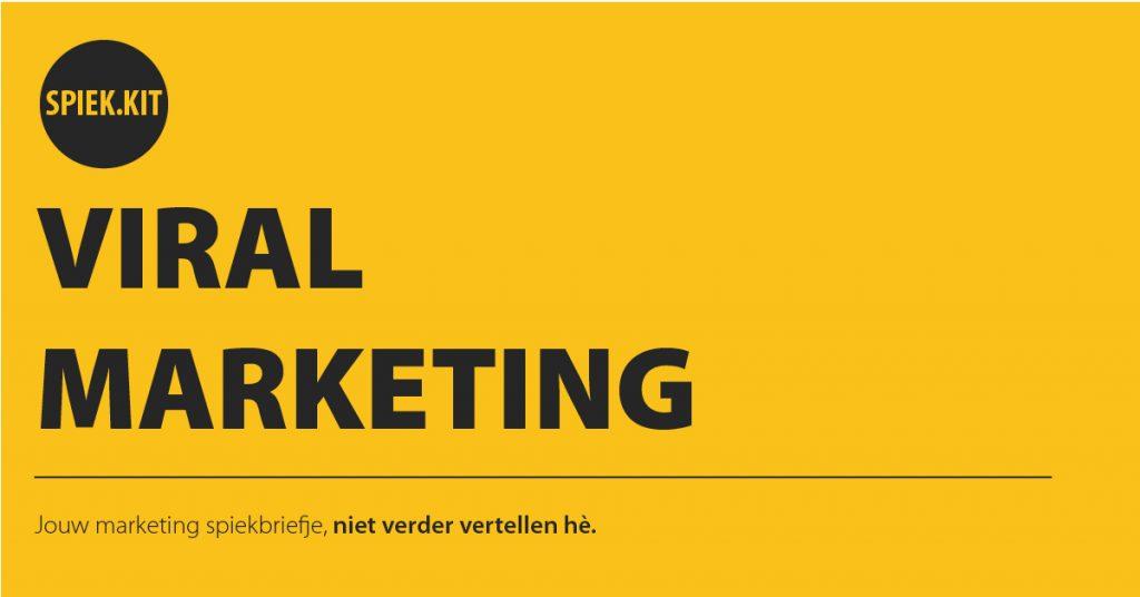 Spiekbriefjes Viral Marketing