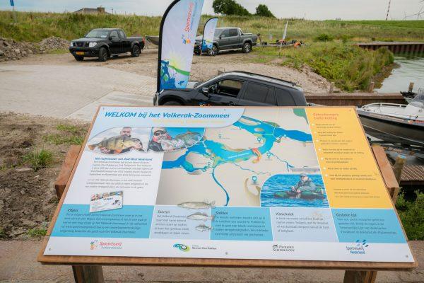 Sportvisserij Zuid West Nederland infopaneel